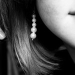 woman with pearl earing